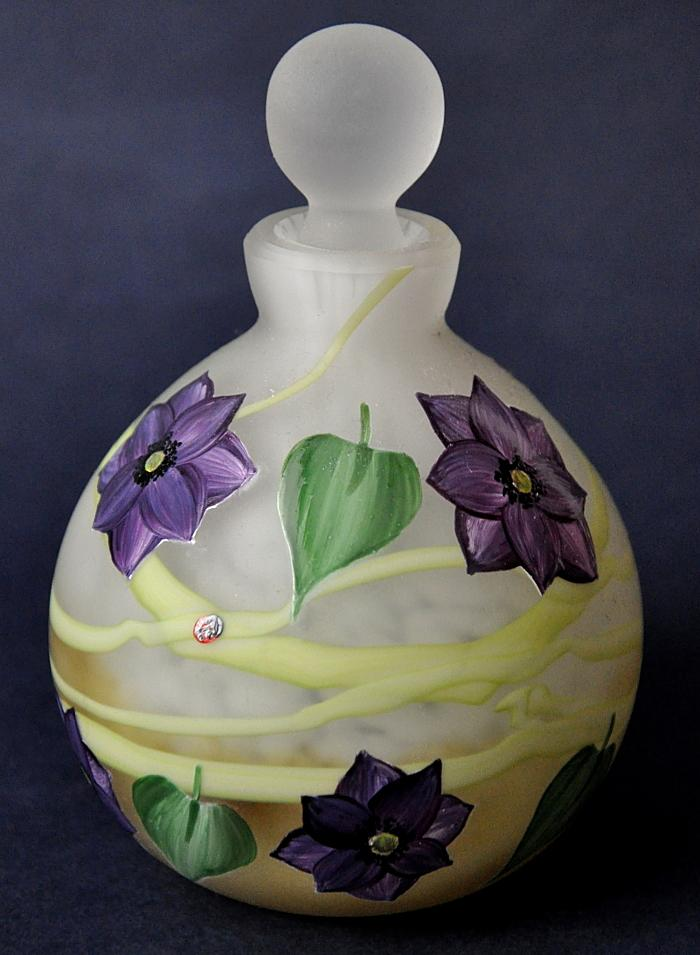 Okra Glass Clematis Perfume Bottle