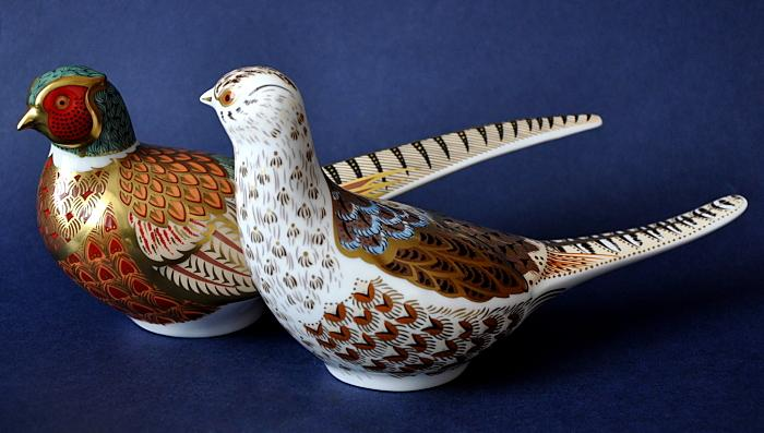 Royal Crown Derby Cock and Hen Pheasant Limited Edition of 500 Pairs