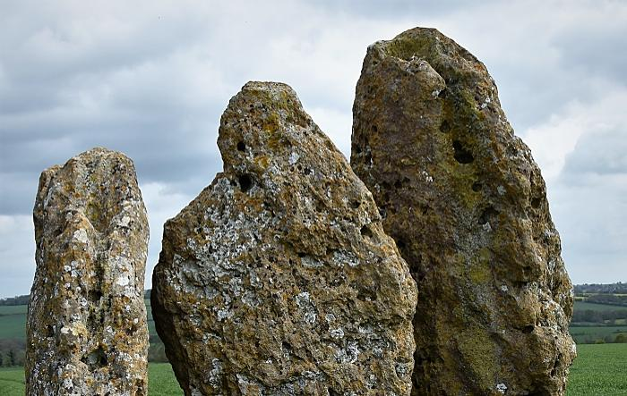 Rollright Stones Oxfordshire, a complex of megalithic monuments on the boundary between Oxfordshire and Warwickshire