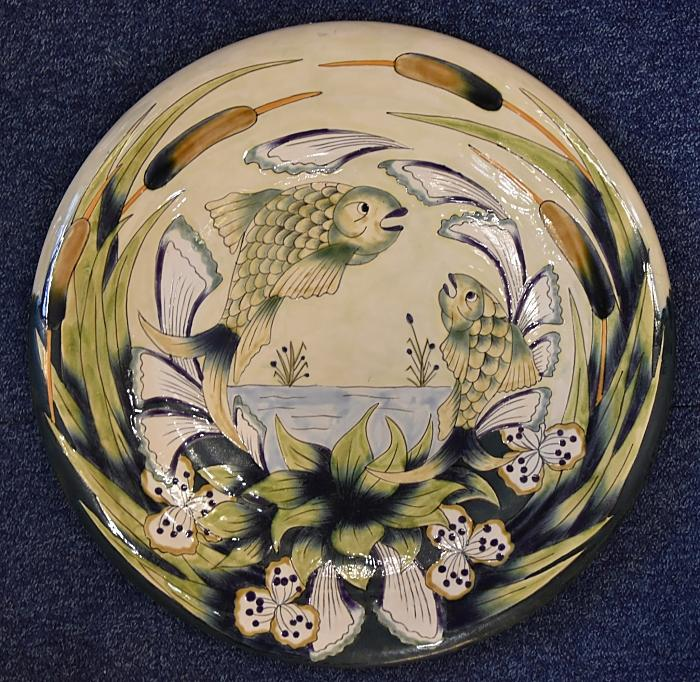 Cobridge Stoneware The Leaping 42cm Charger  A Limited Edition of 150