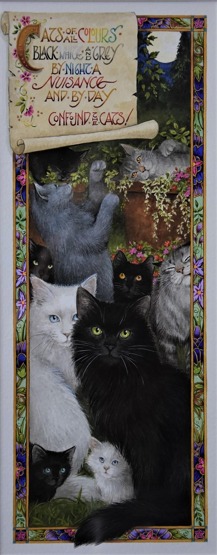 'Confound the Cats' Inspired by Orlando Thomas Dobbin Watercolour by Debby Faulkner-Stevens