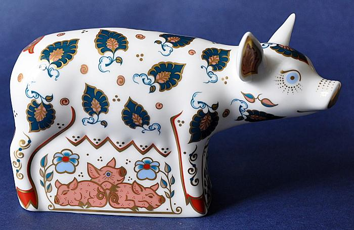 Royal Crown Derby Priscilla Pig