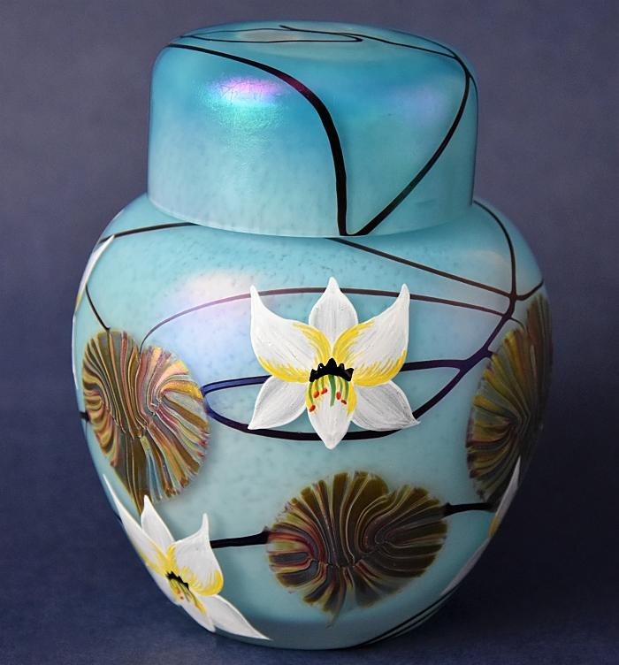 Ode On A Grecian Urn Ginger Jar Designed by Richard Golding Okra Glass A Limited Edition of 60