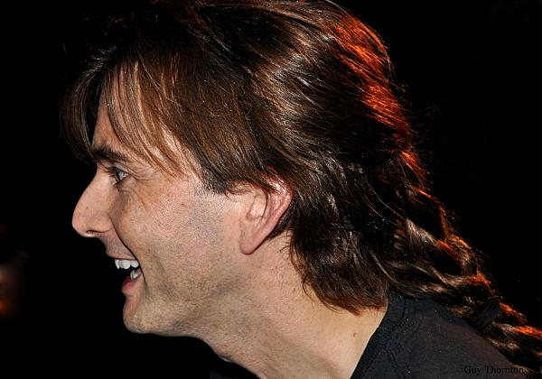 Profile of David Tennant posing for fans Richard II Stratford upon Avon