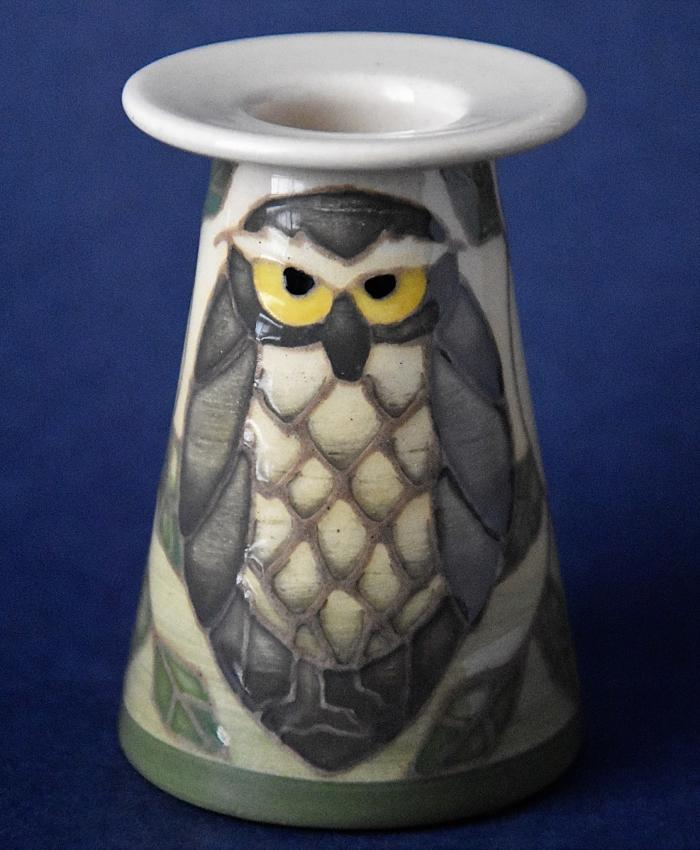 Dennis Chinaworks Barn Owl Miniature Conical Vase Sally Tuffin Numbered Edition