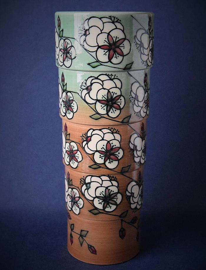 Dennis Chinaworks Blossom Sidestep Vase Sally Tuffin A Numbered Edition No.1