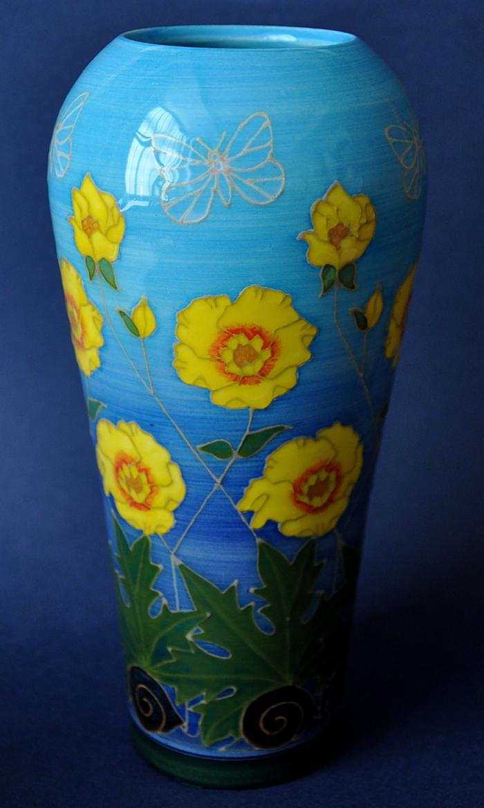 Dennis Chinaworks Buttercup Tall Ovoid Vase Sally Tuffin