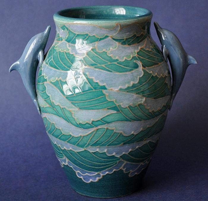Dennis Chinaworks Dolphin Vase No. 1 Sally Tuffin
