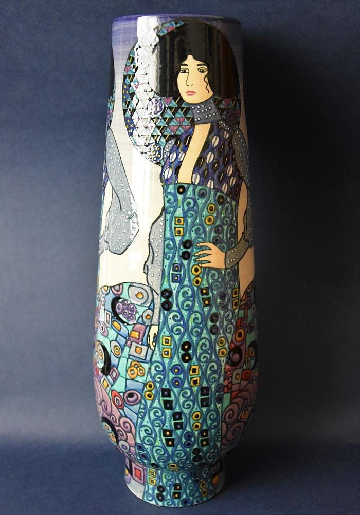 Dennis Chinaworks Klimt Dancer Blue T Bud Vase Sally Tuffin Limited Edition of 20
