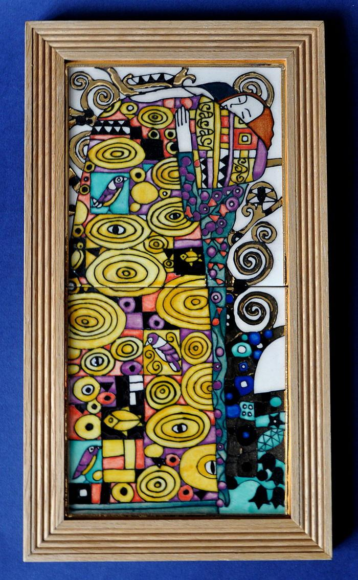 Klimt The Embrace Tile Panel By Dennis Chinaworks
