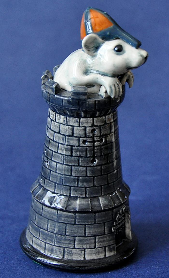 Dennis Chinaworks Black Chess Piece Castle