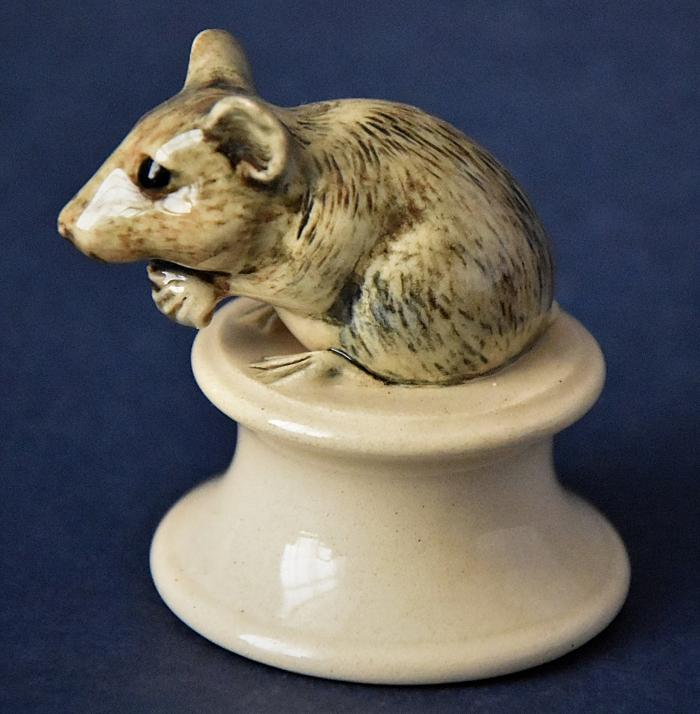 Dennis Chinaworks Mouse Chess Piece White Pawn