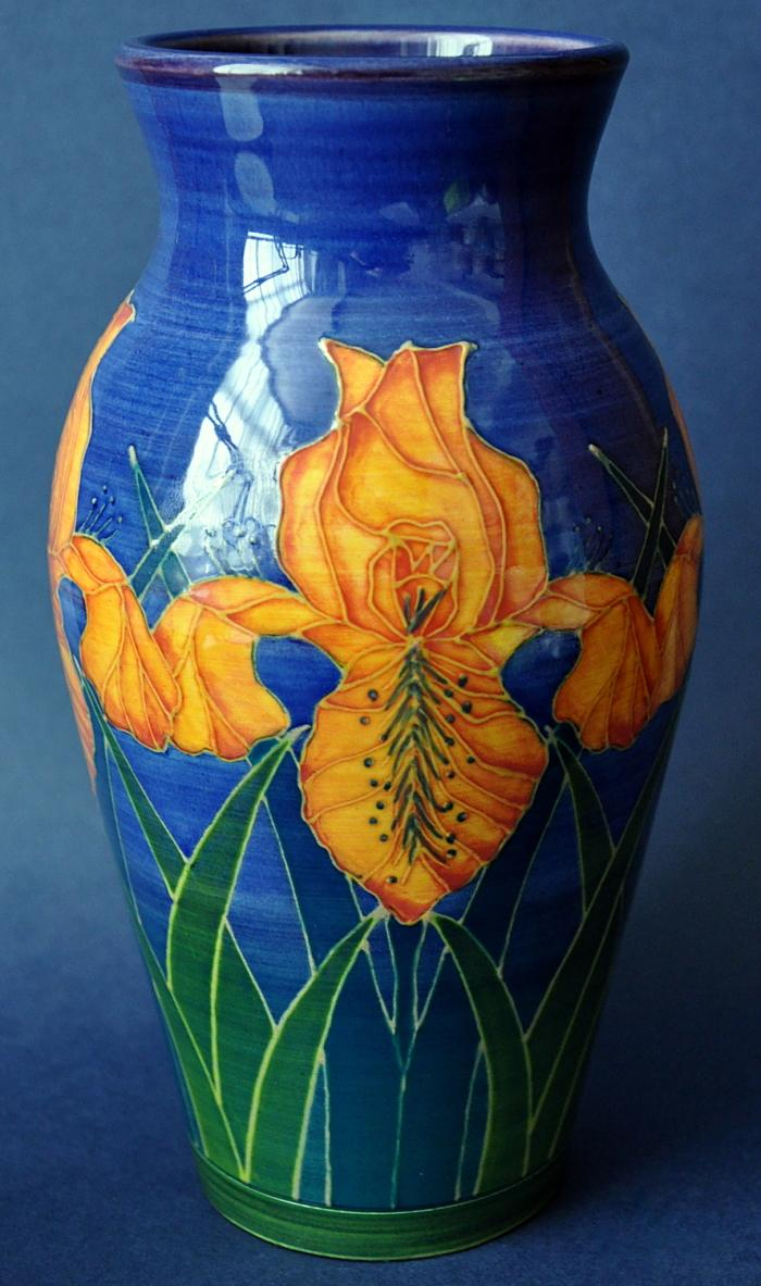 Dennis Chinaworks Orange Iris S Bal Sally Tuffin