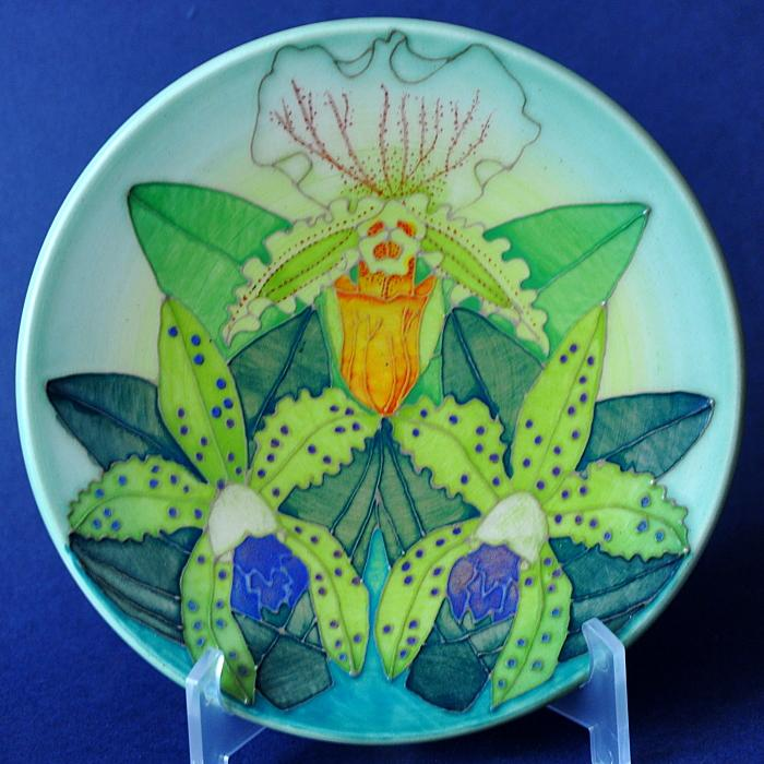 Dennis Chinaworks Orchid Roundel Sally Tuffin