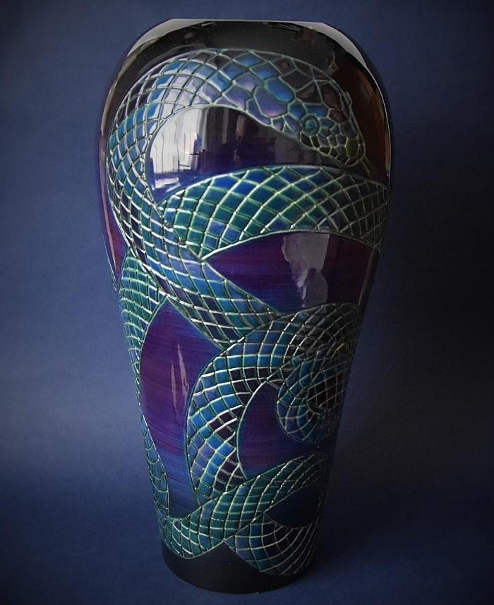 Dennis Chinaworks Snake Ovoid  A Limited Edition of 30