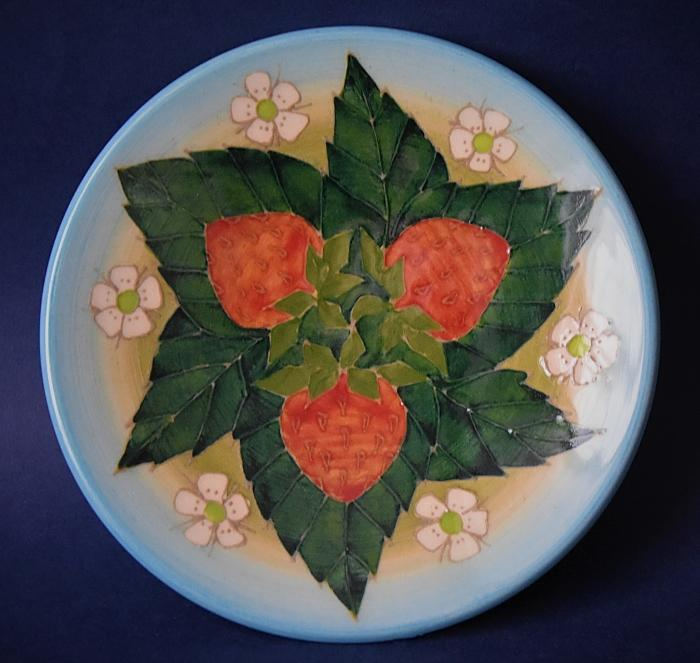 Dennis Chinaworks Strawberry Roundel Sally Tuffin  A Numbered Edition