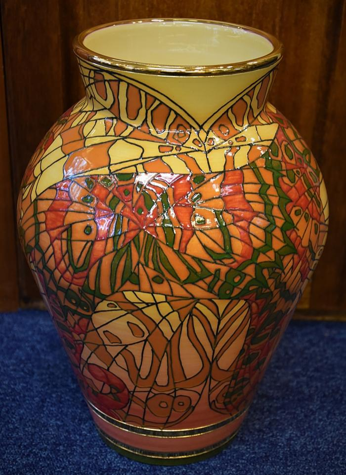 Dennis Chinaworks Tigermoth XL Baluster Vase No 1 of 10 by Sally Tuffin