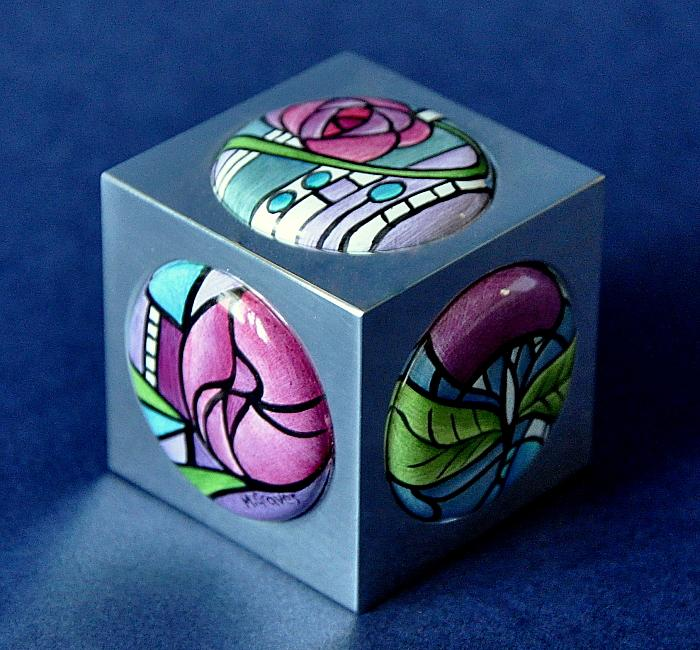 Elliot Hall Enamels Mackintosh Aluminium Paperweight