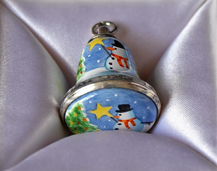Elliot Hall Enamels Christmas Bell