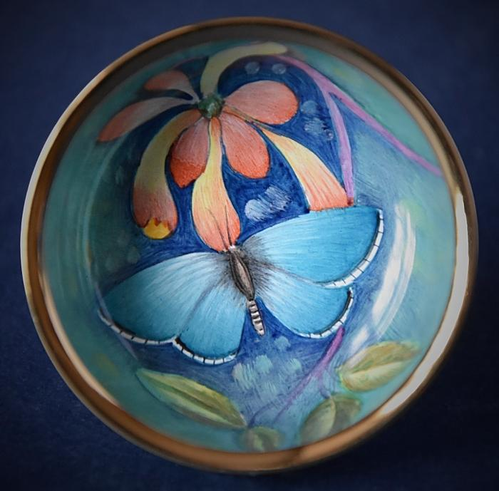 Elliot Hall Enamels Illyria Painted Butterflies