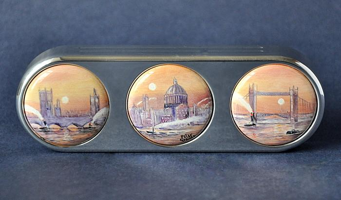Elliot Hall Enamels London Paperweight