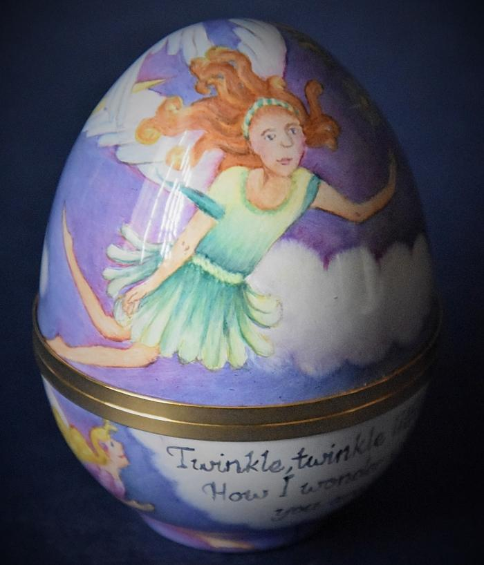Elliot Hall Enamels Nursery Rhyme Egg Twinkle Twinkle by E. Todd