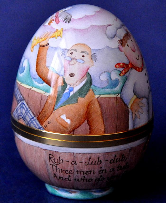 Elliot Hall Enamels Nursery Rhyme Egg Rub-a-dub-dub by E. Todd