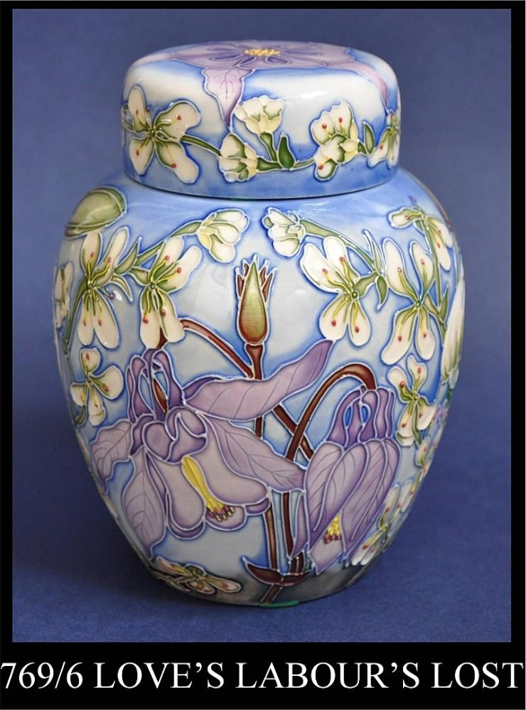 Moorcroft Pottery 769/6 Loves Labours Lost Alicia Amison