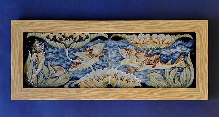 Moorcroft Pottery Double Take PLQ Plaque Rachel Bishop