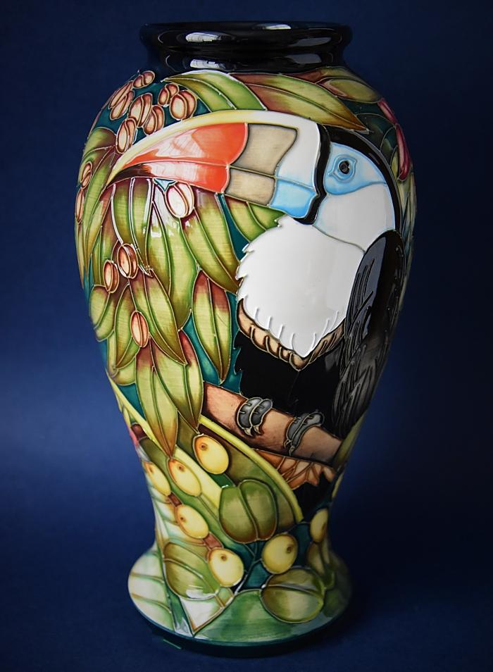 Moorcroft Pottery Chapada Toucan 46/10 Sian Leeper  An Limited Edition of 350