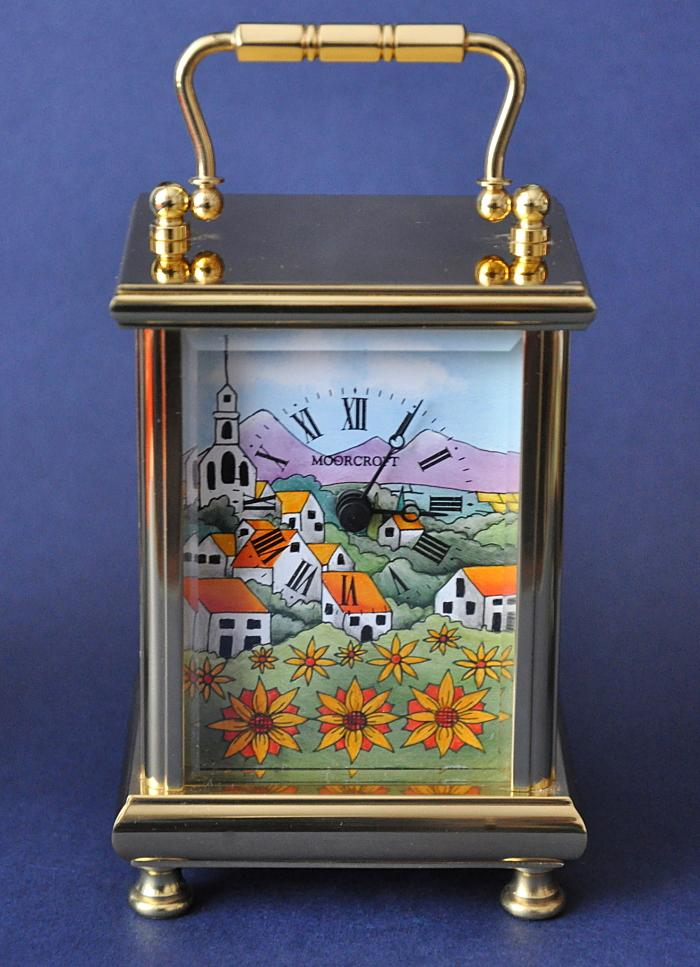 Moorcroft Enamels Andalucia Clock  £550.00 approx. 11cms in height © W.Moorcroft Plc Beverley Wilkes