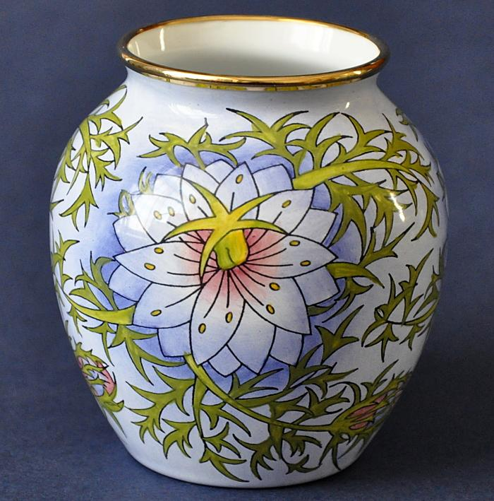 Moorcroft Enamels Love in a Mist 4/LM