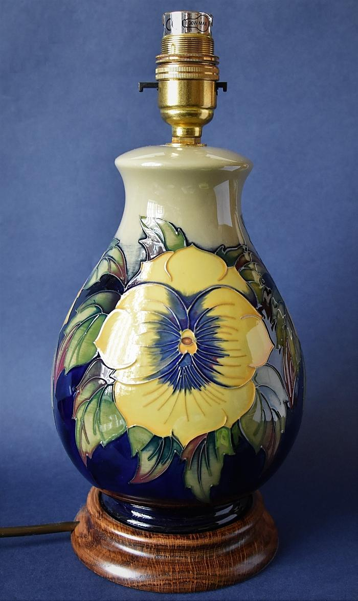 Moorcroft Lamps Golden Pansy L7/7 Kerry Goodwin Open Edition