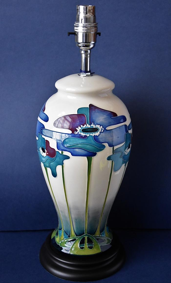Moorcroft Pottery Lamps Blue Heaven L46/10 Nicola Slaney Open Edition