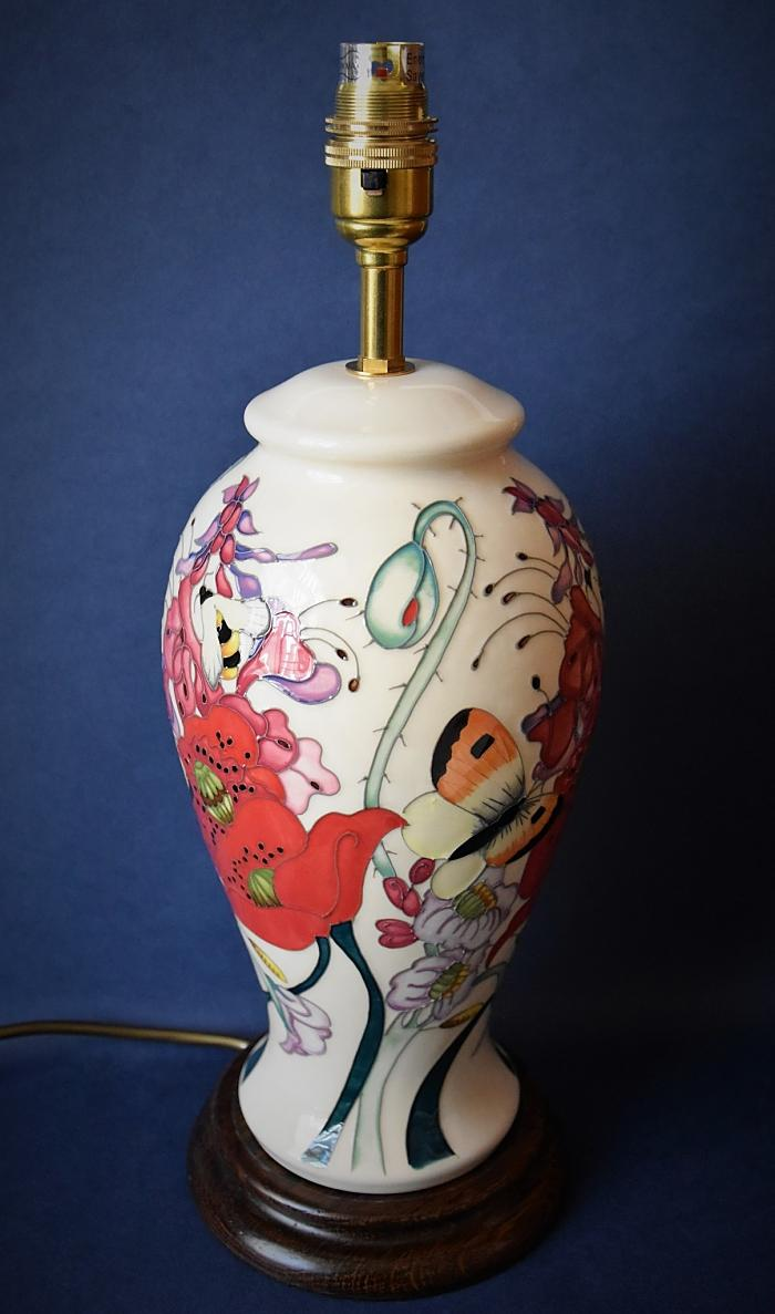 Moorcroft Pottery Lamp Family Through Flowers L46/10 Emma Bossons Open Edition