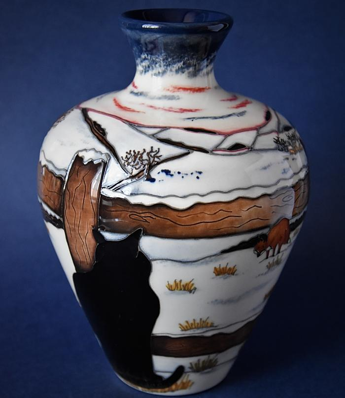 Moorcroft Pottery Who Goes There? 03/7 Angela Davenport  Numbered Edition