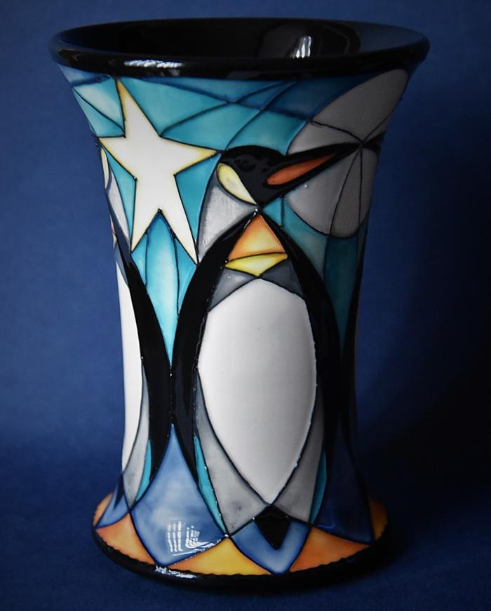 Moorcroft Pottery 158/6 Penguin Frieze Nicola Slaney An Open Edition