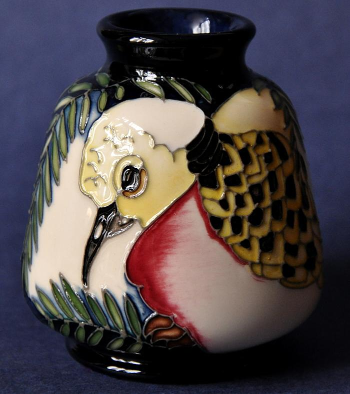 Moorcroft Pottery Two Turtle Doves 198/3 Kerry Goodwin Open Edition The Twelve Days of Christmas