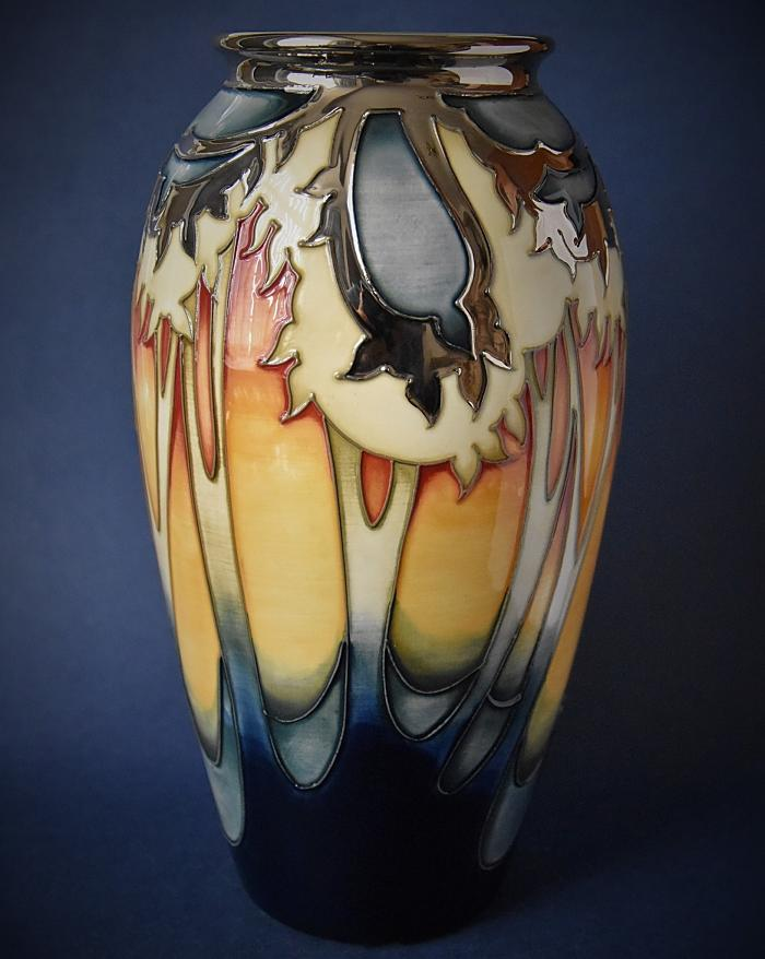 Moorcroft Pottery 393/10 Moon Over Eventide Emma Bossons A Numbered Edition