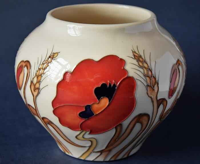 Moorcroft Pottery 402/4 Harvest Poppy Kerry Goodwin and Emma Bossons Open Edition