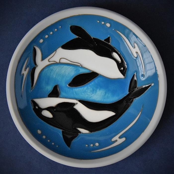 Moorcroft Pottery 780/4 Tray Orca Nicola Slaney Open Edition