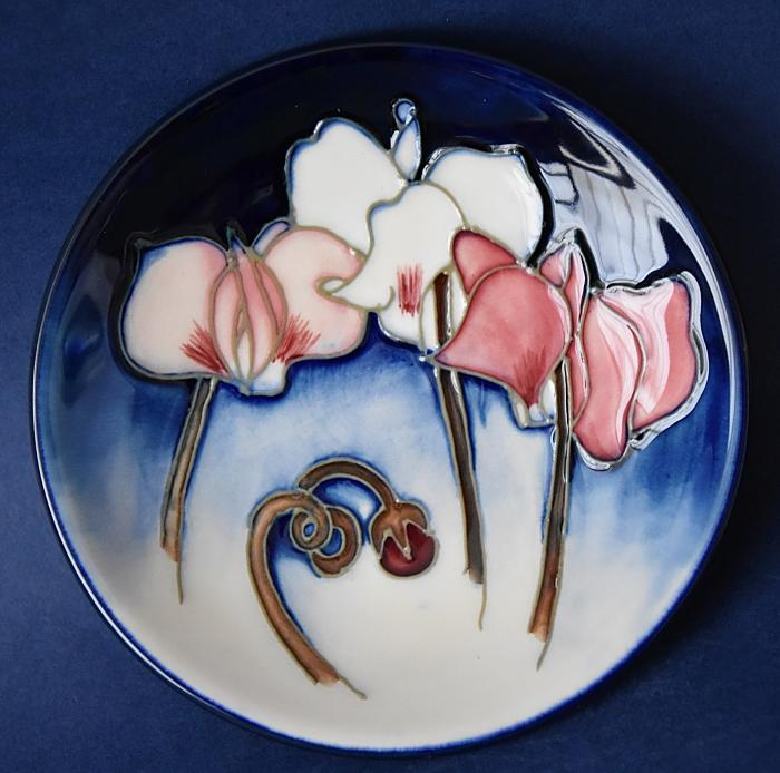 Moorcroft Pottery Wild Cyclamen 780/4 Emma Bossons  An Open Edition