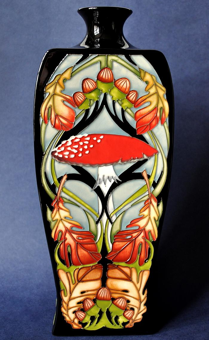 Moorcroft Pottery Autumn Toadstools 39/12 Vicky Lovatt  Limited Edition of 75