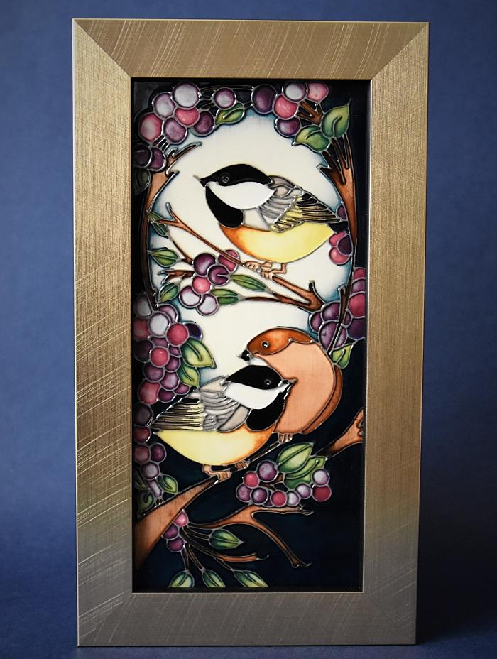 Moorcroft Pottery Blackcap in Beauty Plaque PLQ5 Kerry Goodwin Open Edition