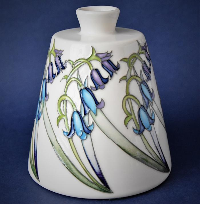 Moorcroft Pottery Bluebell Collection 162/5 Renishaw Hall Nicola Slaney A Numbered Edition