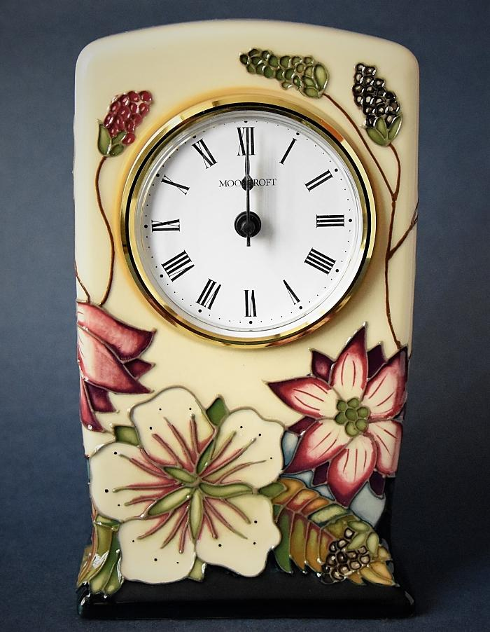 Moorcroft Pottery Bramble Revisited CL1 Clock Alicia Amison Open Edition