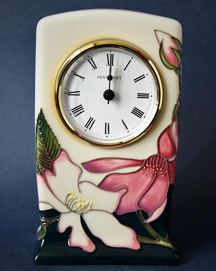 Moorcroft Pottery Mutabalis CL1 Clock RHS Rose Collection Nicola Slaney