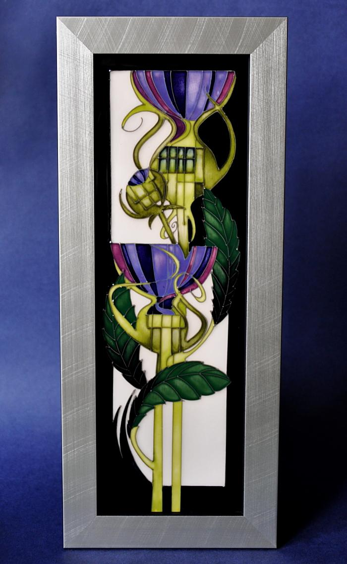 Moorcroft Pottery Coupling Thistles PLQ3 Vicky Lovatt  Limited Edition of 100
