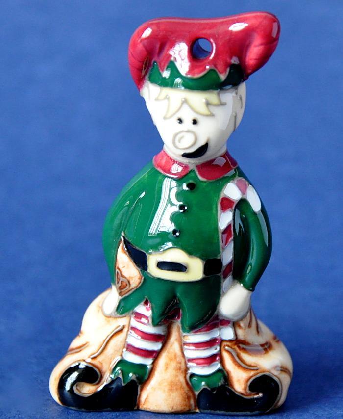 Moorcroft Pottery Model Elf approx.7 cm in height priced at £147.00 RRP £164.00  Now In Stock For Immediate Delivery Free Shipping In UK