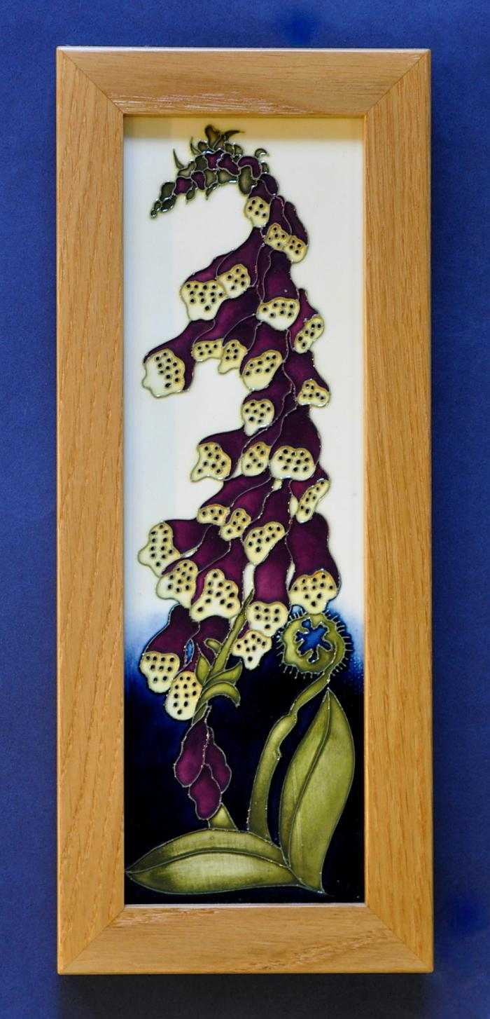 Moorcroft Pottery Fairy Foxglove Plaque PLQ2 Kerry Goodwin